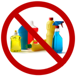 Don't use cleaning agents